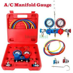 A c Manifold Gauge Hose 5ft Air Conditioner Refrigerant Maintenance R134 R12 R22