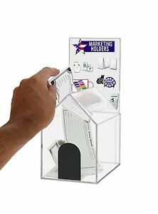 Small Acrylic House Locking Coin suggestion Box