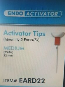Endoactivator Tips Medium Red 25 Activator Tips 22 Mm Dentsply Tulsa