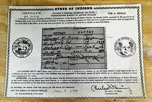 1939 Ford Ch Vintage Car Historical Memorabilia Document