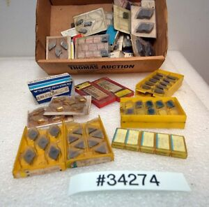 Large Lot Of Assorted Carbide Inserts inv 34274