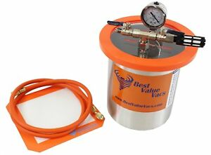 1 5 Gallon Tall Stainless Steel Vacuum Chamber To Degass Urethanes Silicones An