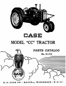 Case Cc Tractor Parts Catalog Book Reproduction