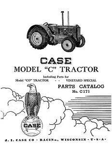 Case C Tractor Parts Catalog Book Reproduction