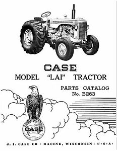 Case Lai Tractor Parts Catalog Book Reproduction