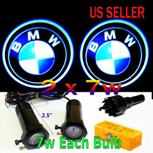2x7w Cree Ghost Shadow Laser Projector Logo Led Light Courtesy Door Step For Bmw