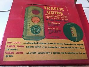 Nos Vintage Traffic Guide Light For Your Car Truck Stop Antique New Old Stock