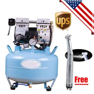 Medical Dental Air Compressor Noiseless Silent Quiet Oil less Oil Free Handpiece