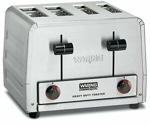 New Waring Wct810 Heavy Duty Commercial Bagel Regular Bread Toaster Pop up
