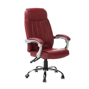 Computer Office Desk Chair Home Commercial Executive Task Ergonomic Swivel Wine