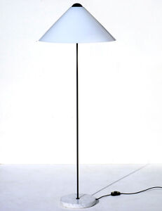 Vico Magistretti Snow Floor Lamp Oluce 70s Design Perspex And Marble