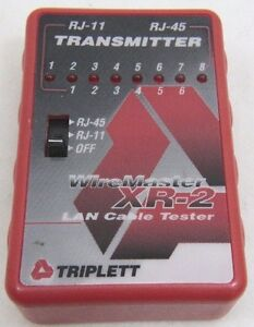 Triplett Wiremaster Xr 2 3254 Lan Cable Tester Transmitter Free Shipping