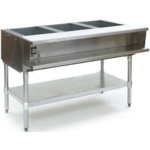 Eagle Group Awt3 ng 48 Inch 3 well Water Bath Gas Steam Table