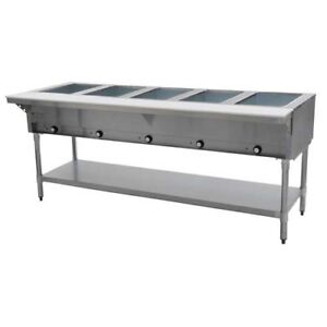 Eagle Group Dht5 208 79 Inch Electric Steam Table Open Well 5 Compartments