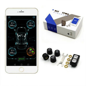Car Tire Tyre Pressure Monitoring System Tpms Bluetooth 4 0 For Ios Android App