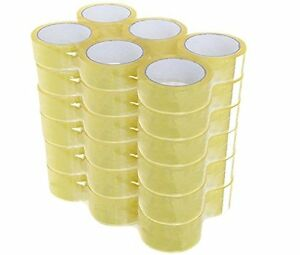 72 Rolls Clear Shipping Packing Carton Sealing Tape 1 8mil 2 X 110 Yards 330 Ft