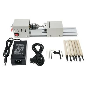 New 24v 100w Mini Lathe Beads Polisher Machine Woodworking Diy Rotary Tool Set
