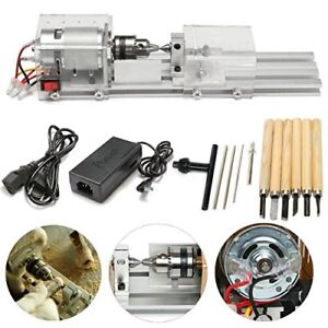 100w 24v Mini Lathe Beads Polisher Machine Woodworking Diy Rotary Tool Set New