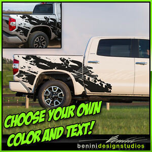 2014 2015 2016 Toyota Tundra Trd Mud Splash Bedside Stripes Graphics