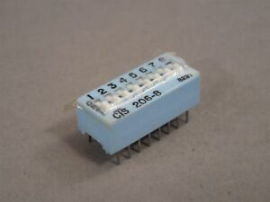 Lot Of 50 Cts 206 8 Through hole Dip Switch