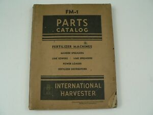 Service Parts Catalog International Harvester Fm 1 Fertilizer Machines 1947 Vtg