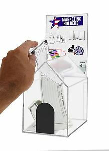 Large Acrylic House Coin suggestion Box With Header