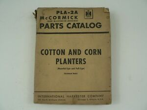 Mccormick Parts Catalog International Harvester Pla 2a Cotton Corn Planters 1950