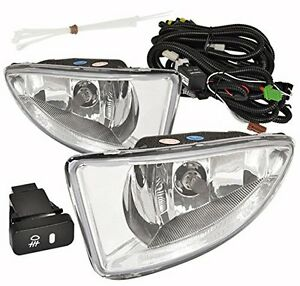 2004 2005 Honda Civic Dx Lx Ex 2 4 Door Front Driving Clear Lens Fog Lights Lamp