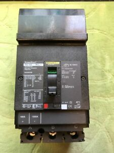 New No Box Square D 100 Amp 3 Pole I line Circuit Breaker Hga36100 Powerpact