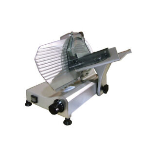 Omcan Usa 250e 10 Inch Gravity Feed Manual Meat Slicer