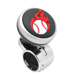 Baseball Logo Car Steering Wheel Power Handle Spinner Suicide Accessory Knob