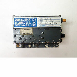 Communications Technique Model 253195 1 Microwave Oscillator 11 11 11 39ghz