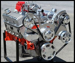 Chevy Turn Key Sbc 383 Stroker Stage 2 0 Roller Cam Engine 503 Hp Serpentine
