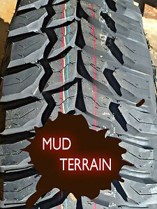 4 New Tires 235 75 15 Bsw Lrc Crosswind Mt Mud Terrain Mudder Lt235 75r15