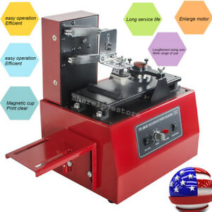 11 In 1 110v Electric Pad Printer Printing Machine For Printing High Speed 250mm