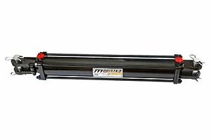 Hydraulic Cylinder Tie Rod Double Action 3 Bore 24 Stroke 2500 Psi 3x24 New