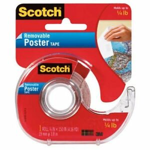 Scotch Removable Poster Tape 3 4 inch X 150 inches Case Of 24