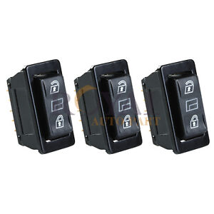 3 Car Momentary Power Power Door Lock Unlock Switches Universal