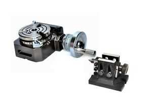 Hv4 Rotary Table With Tailstock high Precision Smooth Rotation Of Hand Wheel