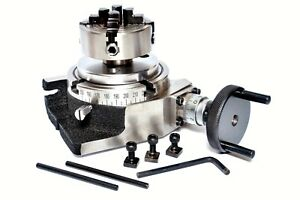 Rotary Table 4 With Back Plate With 70mm Independent Chuck