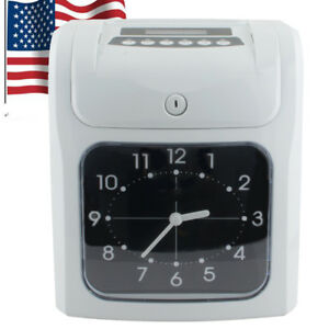 Electronic Employee Time Recorder Clock Monthly Weekly 10w Rn 16 d 100pcs Cards