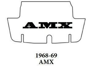 1968 1969 Amc Javelin Amx Trunk Rubber Floor Mat Cover With A 070 Amx