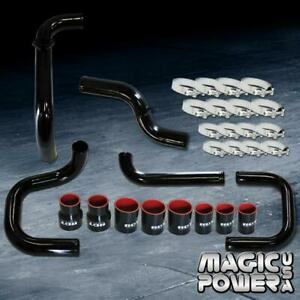 Black Intercooler Piping Couplers S rs Bov Flange Kit For 1992 1995 Civic Eg