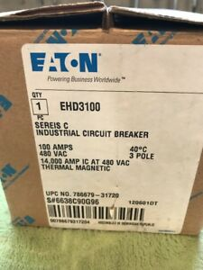 Eaton Cutler Hammer Ehd3100 Circuit Breaker 3 Pole 100 Amp New In Box