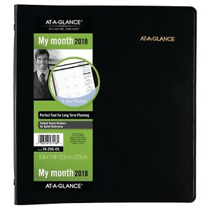 At a glance 70 296 05 Refillable Multi year Monthly Planner 9 X 11 7029605