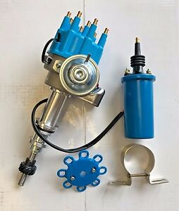 Sbf Ford 289 302 5 0 Small Base Hei Distributor Ready To Run Blue W Coil New