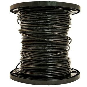 6 awg 500 ft Stranded Black Copper Thhn Wire Southwire by the roll Brand New
