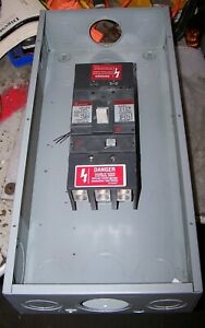 Ge 400 Amp Enclosed Circuit Breaker 600 Vac 3 Pole W 400a Trip Sgla36at0400