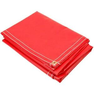 20 X 20 Flame Retardant Tarp 13 Oz Vinyl Laminated Polyester Made In Usa Red