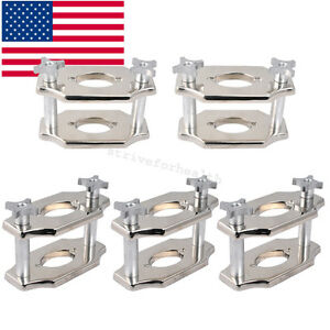 5x Usa Dental Reline Jig Single Compress Press Plate Lab Equipment Tools 2 post